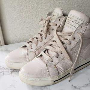 Marc by Marc Jacobs White Hightop Sneakers